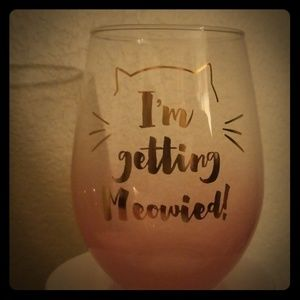 Other - Stemless wine glass for wine/cat lover bride to be